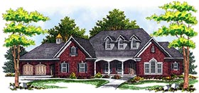 House Plan 97314 | Country European Style Plan with 5211 Sq Ft, 4 Bed, 4 Bath, 4 Car Garage Elevation