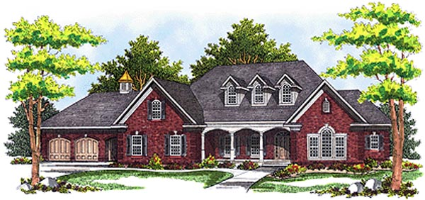 Country European House Plan 97314 Elevation