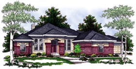 House Plan 97315 | Southwest Style Plan with 5282 Sq Ft, 5 Bedrooms, 4 Bathrooms, 3 Car Garage Elevation