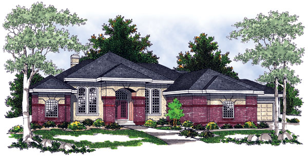 Southwest House Plan 97315 with 5 Beds, 4 Baths, 3 Car Garage Elevation