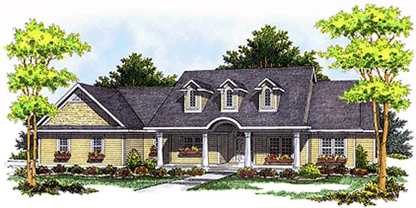 Cape Cod Country House Plan 97317 Elevation