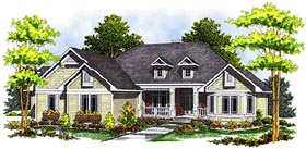 Bungalow European House Plan 97319 Elevation