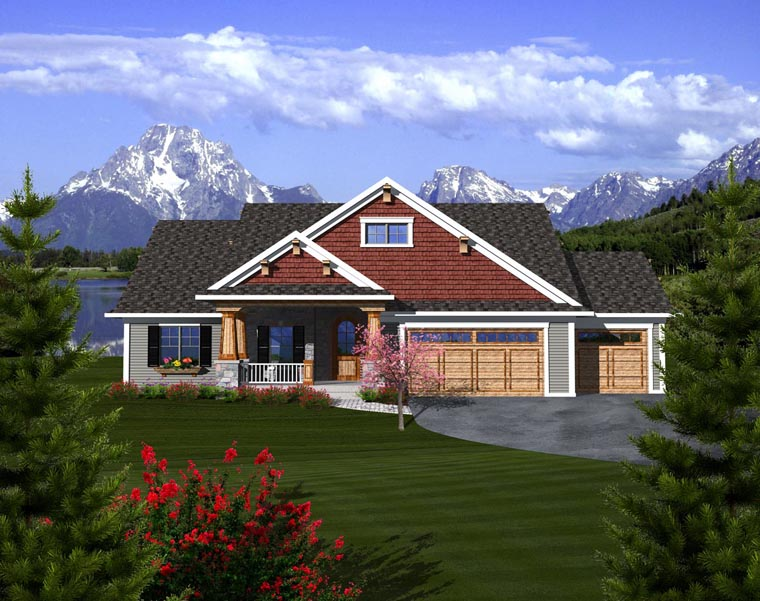 Craftsman Ranch House Plan 97320 Elevation
