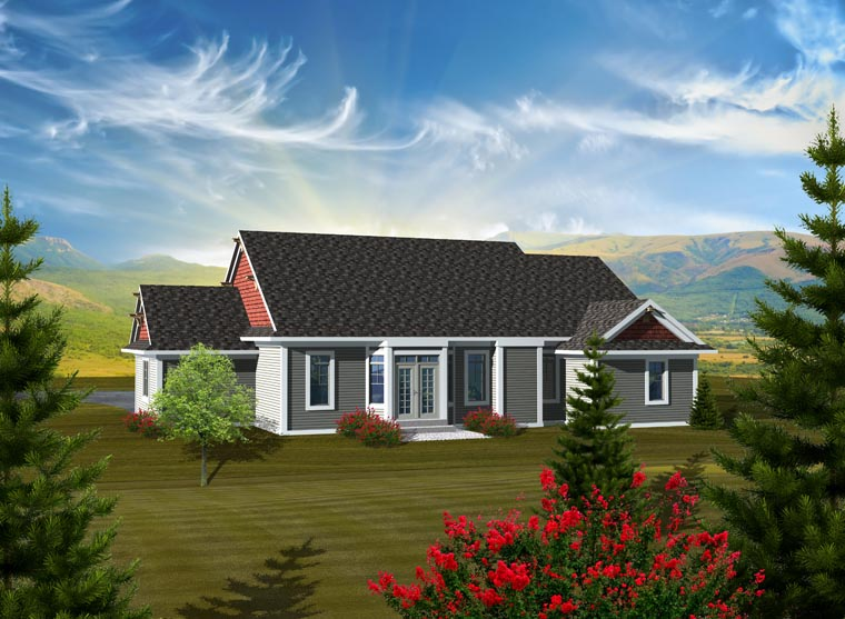 Craftsman Ranch House Plan 97320 Rear Elevation