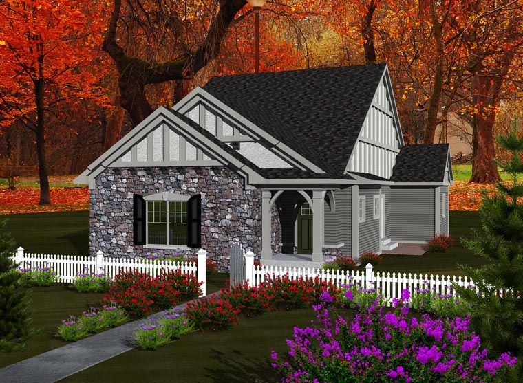 Ranch House Plan 97321 with 3 Beds, 2 Baths, 3 Car Garage Elevation