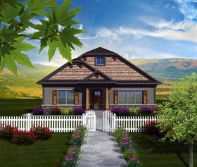 House Plan 97325 | Ranch Style Plan with 1888 Sq Ft, 2 Bedrooms, 2 Bathrooms, 2 Car Garage Elevation