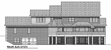 Country House Plan 97326 Rear Elevation