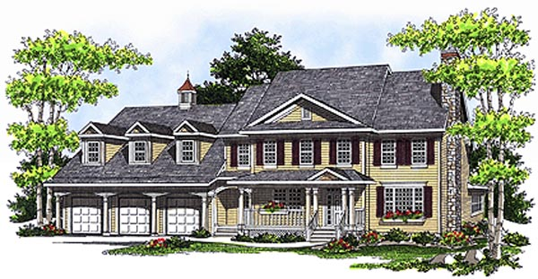 Colonial Country House Plan 97327 Elevation