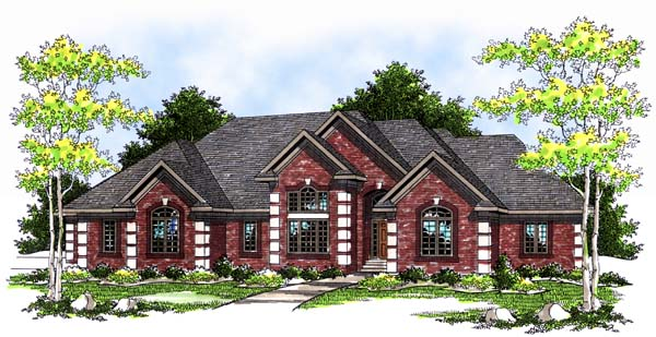 European House Plan 97328 Elevation