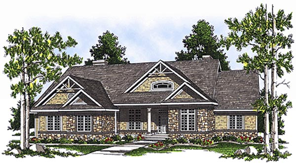 Bungalow House Plan 97329 Elevation