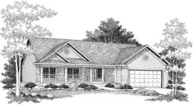 Ranch House Plan 97331 with 3 Beds, 2 Baths, 2 Car Garage Elevation