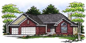 House Plan 97335 | Ranch Style Plan with 1927 Sq Ft, 3 Bedrooms, 2 Bathrooms Elevation
