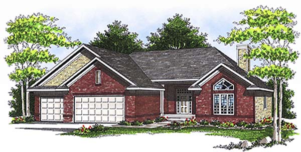 Ranch House Plan 97335 Elevation