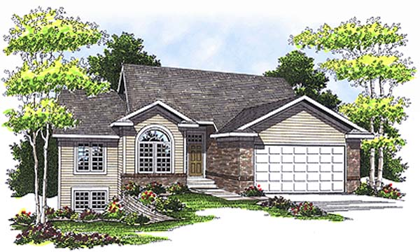 Traditional House Plan 97336 with 3 Beds, 3 Baths, 2 Car Garage Front Elevation