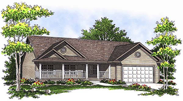 Ranch , Elevation of Plan 97339