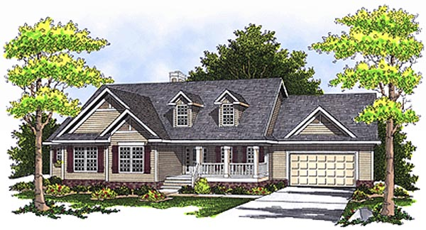 House Plan 97340 | Country Style Plan with 3323 Sq Ft, 4 Bedrooms, 4 Bathrooms, 2 Car Garage Elevation