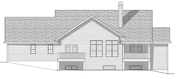 House Plan 97340 | Country Style Plan with 3323 Sq Ft, 4 Bedrooms, 4 Bathrooms, 2 Car Garage Rear Elevation