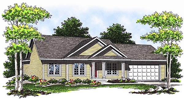 Ranch , Elevation of Plan 97341