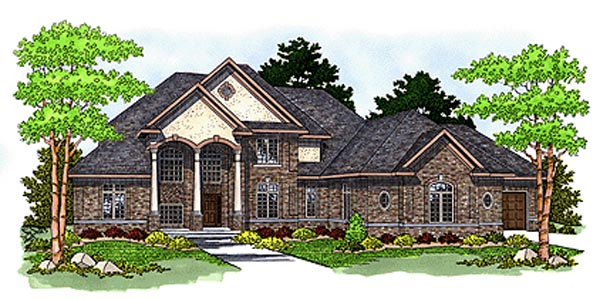 Colonial European House Plan 97342 Elevation