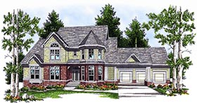 European Victorian House Plan 97344 Elevation