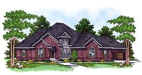 European House Plan 97345 Elevation