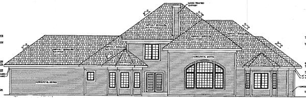 European House Plan 97345 Rear Elevation