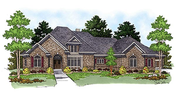 European House Plan 97346 Elevation