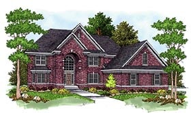 House Plan 97347 | European Style House Plan with 4963 Sq Ft, 4 Bed, 4 Bath, 2 Car Garage Elevation