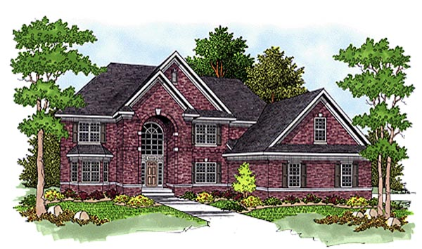European House Plan 97347 Elevation