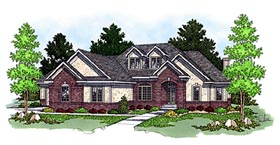 European House Plan 97348 Elevation