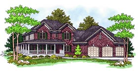 House Plan 97350 | Farmhouse Style Plan with 2996 Sq Ft, 4 Bedrooms, 4 Bathrooms, 3 Car Garage Elevation
