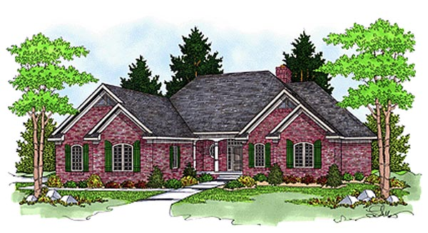 Traditional House Plan 97351 Elevation