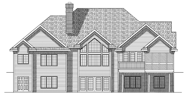 Traditional House Plan 97351 Rear Elevation