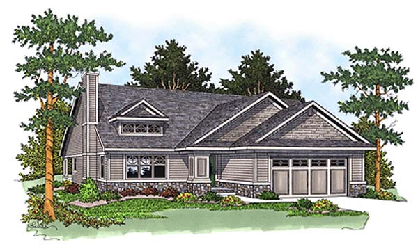 Bungalow Ranch House Plan 97352 Elevation