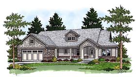Ranch , Bungalow House Plan 97353 with 3 Beds, 2 Baths, 2 Car Garage Elevation
