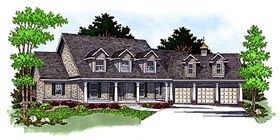 Cape Cod Country House Plan 97357 Elevation