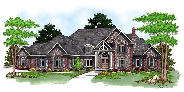 Tudor House Plan 97358 Elevation