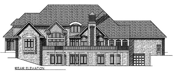 Tudor House Plan 97358 Rear Elevation