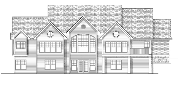 Traditional House Plan 97360 Rear Elevation