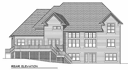 Country House Plan 97361 Rear Elevation