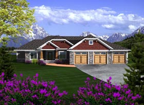 Ranch House Plan 97363 Elevation