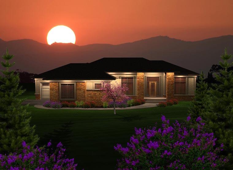 Prairie Style House Plan 97365 Elevation
