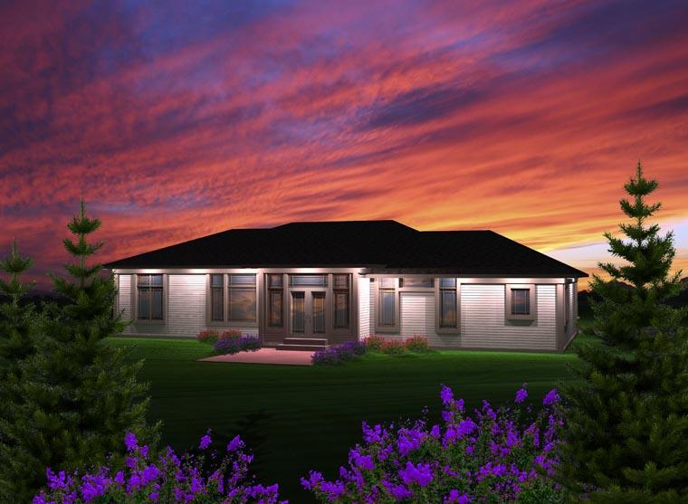 Prairie Style House Plan 97365 Rear Elevation