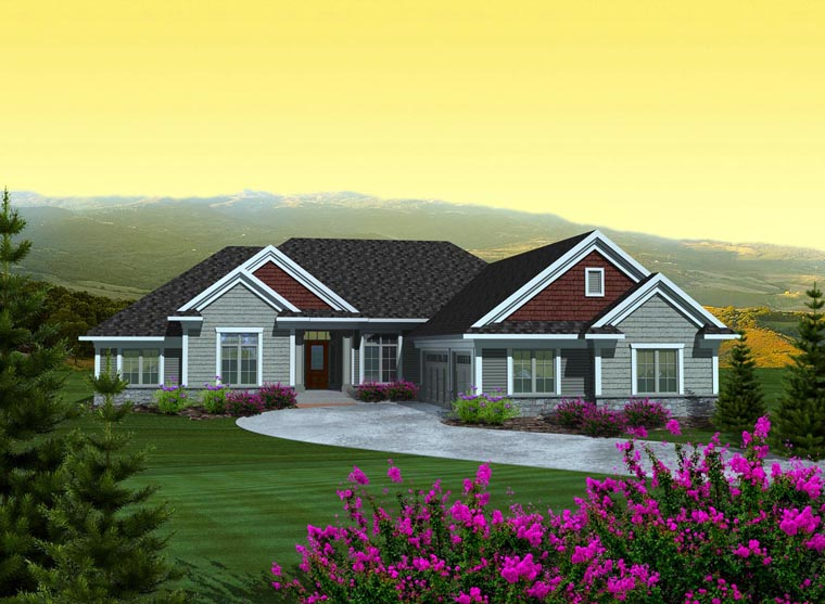 Ranch House Plan 97368 Elevation