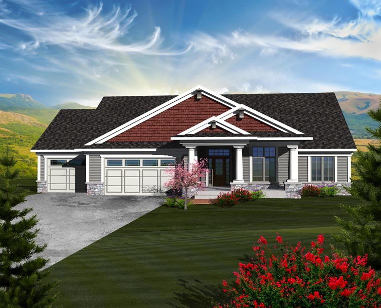 Ranch House Plan 97370 Elevation