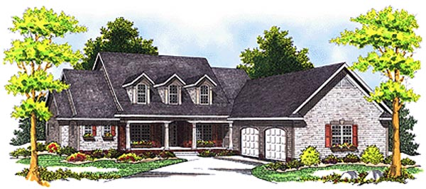 Cape Cod Country House Plan 97371 Elevation