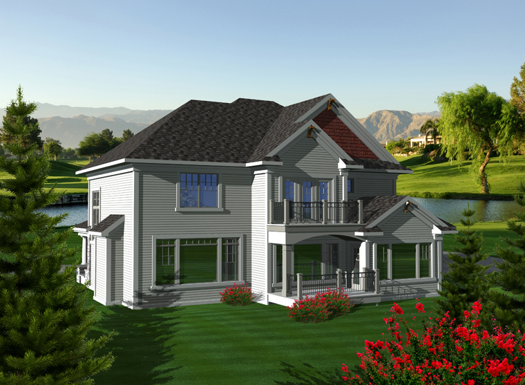 Traditional House Plan 97372 Rear Elevation
