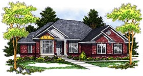 House Plan 97374 | Traditional Style Plan with 3193 Sq Ft, 4 Bedrooms, 3 Bathrooms, 2 Car Garage Elevation