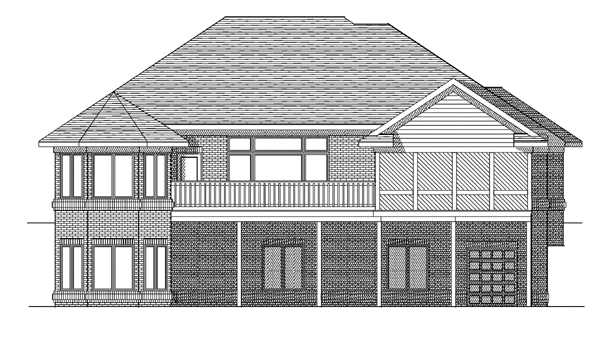 House Plan 97374 | Traditional Style Plan with 3193 Sq Ft, 4 Bedrooms, 3 Bathrooms, 2 Car Garage Rear Elevation