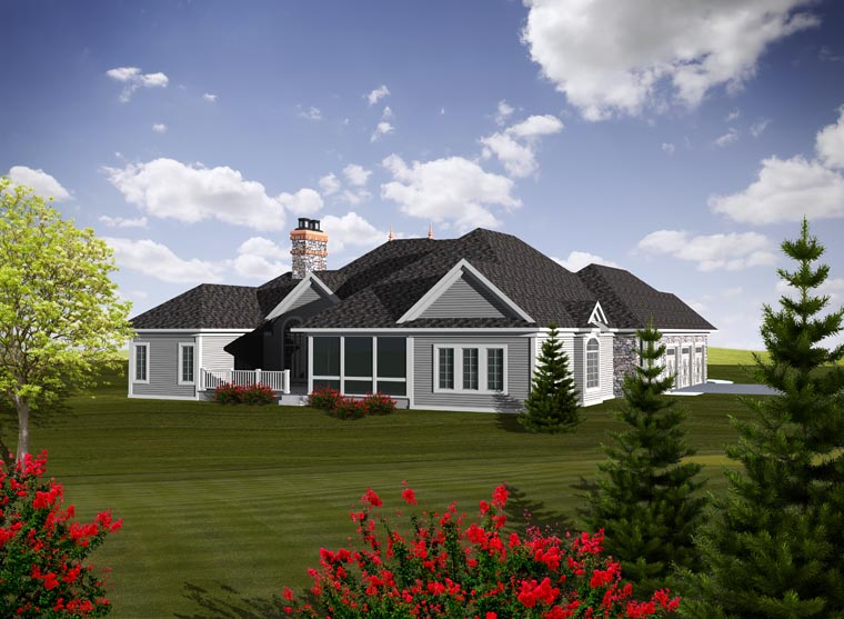 Ranch House Plan 97375 Rear Elevation